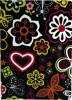 Paint Case Flower Black for iPad Air 2 мал.1