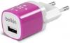 Belkin Home Charger 1 USB port (5 Watt / 1 Amp) Pink мал.1