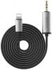 Baseus Enjoy Apple Transfer Male Audio Cable 1.2M Silver Black (NGB37-01) рис.1