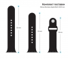 Apple Sport Band for Apple Watch 38mm Black (3 straps) рис.3