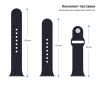 Apple Sport Band for Apple Watch 38mm Dark Blue (3 straps) рис.3