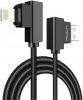 Rock Dual-end L-shape Lightning Data Cable (30CM) Black рис.1
