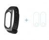 ArmorStandart Carbon Fibre Metal Shell Band for Xiaomi Mi Band 2 Black рис.1