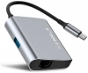 Baseus Enjoyment series Type-C to RJ45+USB3.0 HUB Adapter Gray (CATSX-B0G) мал.2
