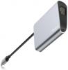 Baseus Enjoyment series Type-C to RJ45+USB3.0 HUB Adapter Gray (CATSX-B0G) мал.3