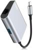 Baseus Enjoyment series Type-C to RJ45+USB3.0 HUB Adapter Gray (CATSX-B0G) мал.4
