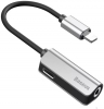Baseus L32 IP Male to 3.5mm+IP Female Adapter Black+Silver (CALL32-0S) рис.1