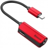 Baseus L32 IP Male to 3.5mm+IP Female Adapter Red (CALL32-09) рис.1