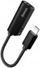 Baseus L32 IP Male to 3.5mm+IP Female Adapter Black (CALL32-01) рис.1