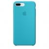 Apple iPhone 8 Plus Silicone Case (HC) - Light Blue рис.1