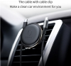 Baseus Magnetic Air Vent Car Mount Holder with cable clip Silver (SUGX-A0S) рис.4