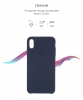Apple iPhone XS/X Silicone Case (OEM) - Midnight Blue рис.3