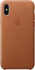 Apple iPhone X Leather Case (OEM) - Saddle Brown рис.1