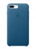 Apple iPhone 8 Plus Leather Case (OEM) - Cosmos Blue рис.1