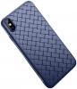 Rock Ultrathin Weaving Case for iPhone X Blue рис.1