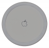 Apple wireless charger in white color in round box рис.1