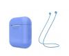 Airpods Silicon case+straps blue (in box) рис.1
