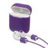 Airpods Silicon case+straps violet (in box) рис.1