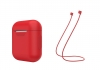 Airpods Silicon case+straps red (in box) рис.1