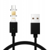 Magnetic Cable 3in1 Lighting+Micro+Type C Black мал.1