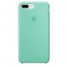 Apple iPhone 8 Plus Silicone Case (HC) - Sea Blue рис.1