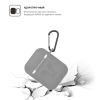 Airpods Silicon case with carbine+straps blue (in box) мал.2
