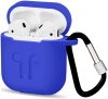 Airpods Silicon case with carbine+straps blue (in box) мал.5