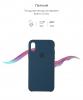 Apple iPhone XS/X Silicone Case (OEM) - Cosmos blue рис.3