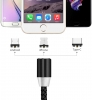 Magnetic Cable 3in1 Round Lighting+Micro+Type C Black рис.6