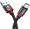 Baseus Golden Belt Series USB3.0 Cable Type-C 3A Black+red (CATGB-19) рис.1