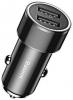 Baseus Small Screw 3.4A Dual-USB Car Charging Set (with lightning) Black (TZXLD-A01) рис.1