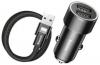 Baseus Small Screw 3.4A Dual-USB Car Charging Set (with lightning) Black (TZXLD-A01) рис.2