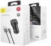 Baseus Small Screw 3.4A Dual-USB Car Charging Set (with lightning) Black (TZXLD-A01) рис.3