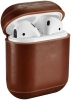 Vintage Leather Airpods Protective Case dark brown рис.1