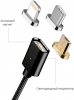 Magnetic Cable 3in1 with LED Lighting+Micro+Type C Black рис.2