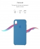Apple iPhone XS/X Silicone Case (OEM) - Denim Blue рис.3
