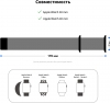 Armorstandart Nylon Band для Apple Watch All Series 38/40 mm Black (ARM51953) мал.3
