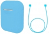 Airpods Silicon case+straps sky blue (in box) мал.1