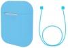 Airpods Silicon case+straps sky blue (in box) рис.1