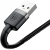 Baseus Kevlar cable USB For lightning 2A 0.5M Gray+Black (CALKLF-AG1) рис.3