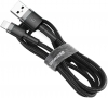 Baseus Kevlar cable USB For lightning 2A 1.5M Gray+Black (CALKLF-CG1) рис.1