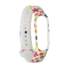 Xiaomi ремешок Mi Band 4/3 (White with flowers) мал.1