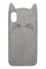 Beard Cat Silicon case for iPhone X transparent рис.1