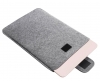 Gmakin Felt Cover with clasp for Macbook Air 13,3/Pro 13,3 light grey GM55 рис.4