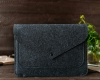 Чехол для ноутбука Gmakin для Macbook Air/Pro 13,3 темно-серый, на кнопке (GM62) мал.7