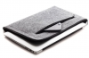 Gmakin Felt Cover with zip horisontal for Macbook Air 13,3/Pro 13,3 light grey GM67 рис.1