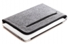 Gmakin Felt Cover with zip horisontal for Macbook Air 13,3/Pro 13,3 light grey GM67 рис.2