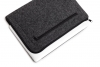 Gmakin Felt Cover with zip horisontal for Macbook Air 13,3/Pro 13,3 dark grey GM68 рис.4