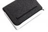 Чехол для ноутбука Gmakin для Macbook Air/Pro 13,3 темно-серый, на молнии (GM68) мал.4