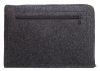 Gmakin Felt Cover with zip horisontal for Macbook Air 13,3/Pro 13,3 dark grey GM68 рис.6